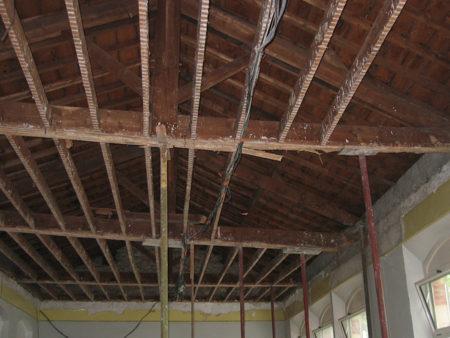 Dégats termites avant démolition