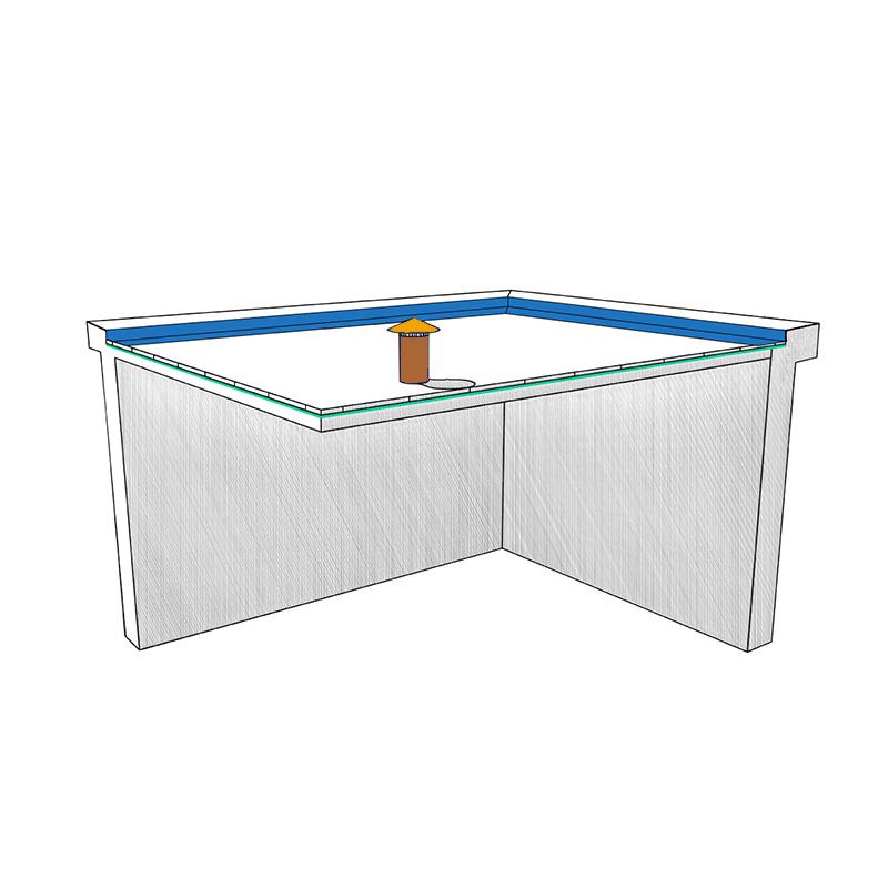Toiture terrasse   Matériaux et produits amiantés   Schéma interactif